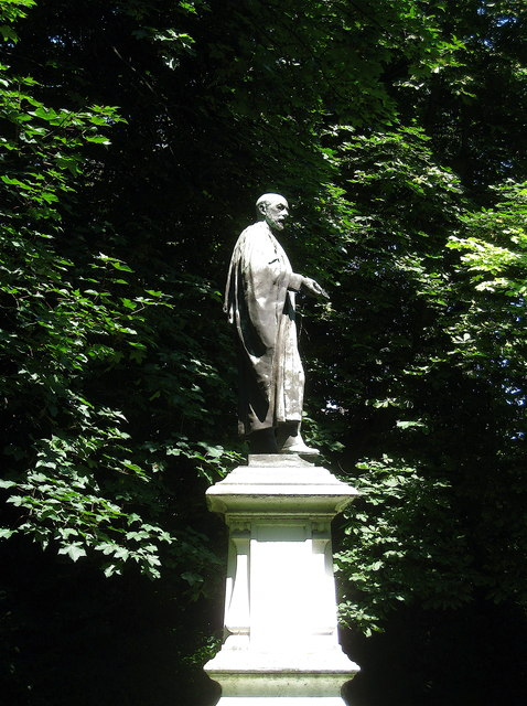 Statue of Sir Corbet Woodall at Twelvetrees Crescent, Newham, London