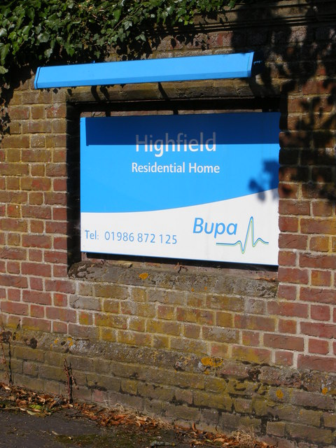 Highfield Residential Home sign