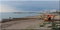 TQ3303 : Groyne and beach near Brighton Marina by Oast House Archive