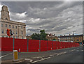 SE3406 : Construction hoardings on Shambles Street by Steve  Fareham