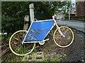 NT4837 : A bike at Plumtreehall Brae, Galashiels by Walter Baxter