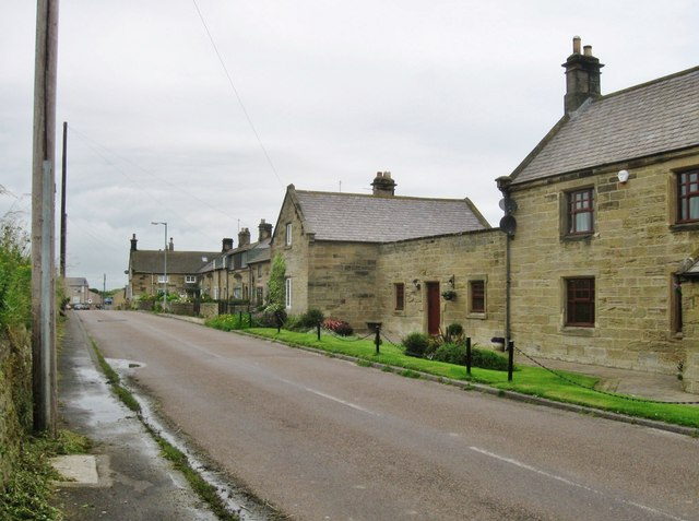 Lovely row of sandstone cottages. Cresswell, Northumberland