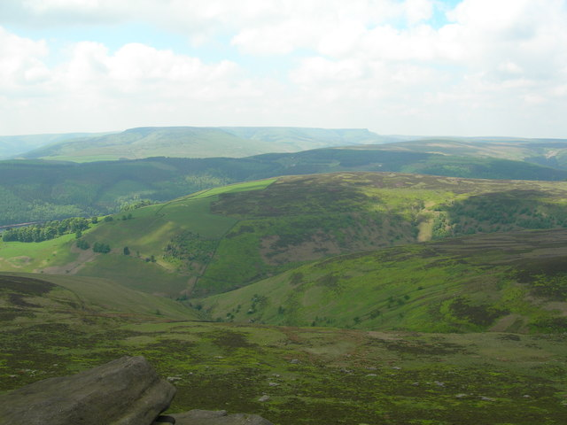 Looking west over Dovestone Clough