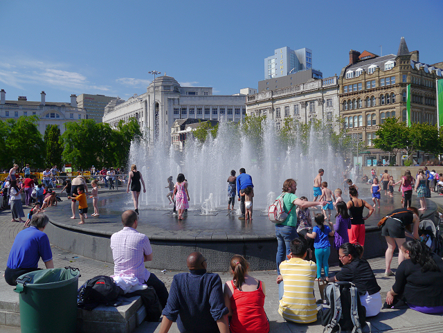 The Fountains, Piccadilly Gardens