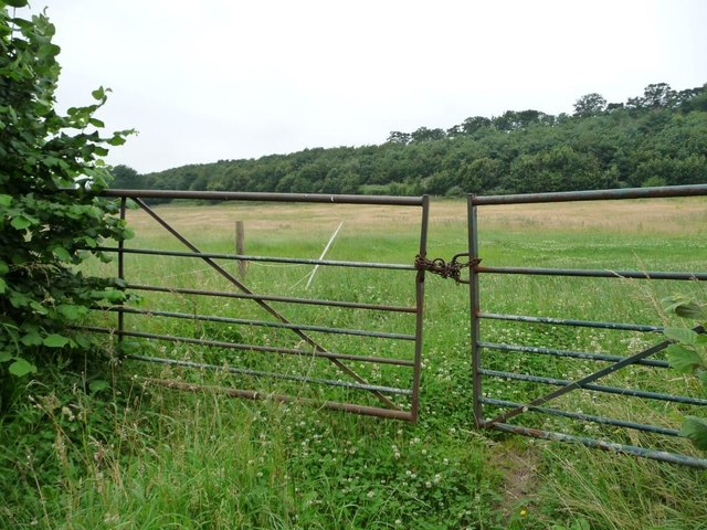 Gated field entrance, Carr Lane