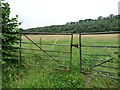 SE3640 : Gated field entrance, Carr Lane by Christine Johnstone