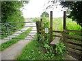 SE3739 : Footpath stile by gated track by Christine Johnstone