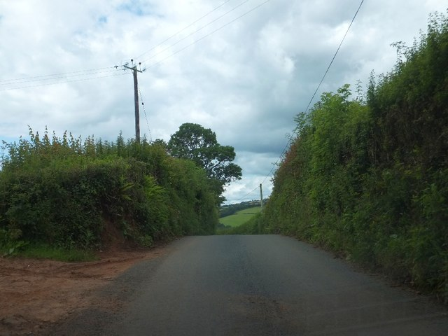Minor road from Bolealler to Westcott