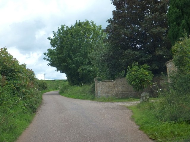 Wall and road at Meadow Lodge