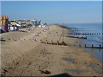 SZ9398 : The beach at Bognor Regis from the pier by Marathon