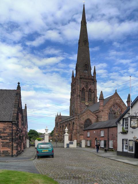 Entrance to St Elphin's Church, Warrington