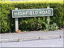 TM3876 : Highfield Road sign by Adrian Cable
