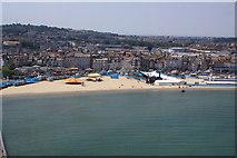 SY6878 : Olympics compound, Weymouth Beach by John Stephen