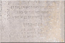 SO2160 : Names on New Radnor War Memorial by Philip Halling