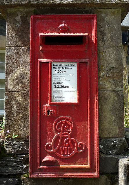 Edwardian postbox at Grizedale