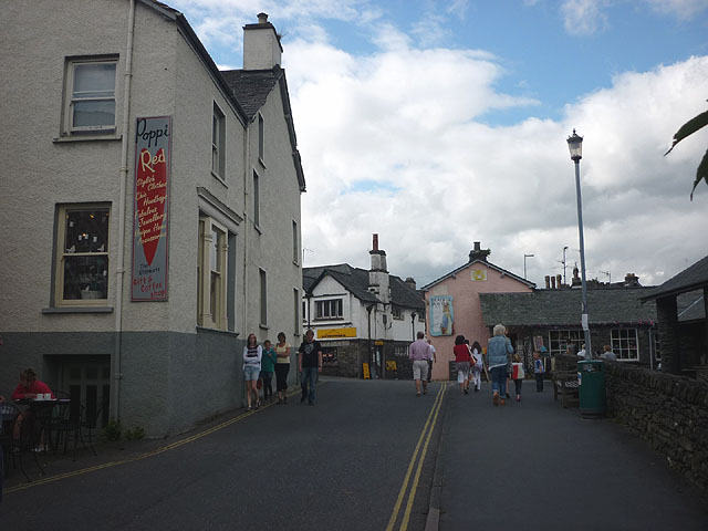 The main street in Hawkshead
