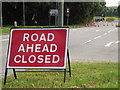 TQ0451 : ROAD AHEAD CLOSED by Colin Smith