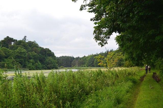 Track alongside Balgone Loch