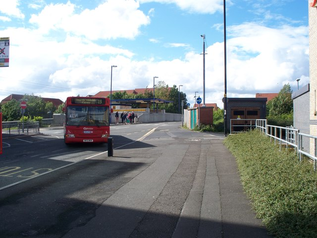 Bus near Backworth Metro Station