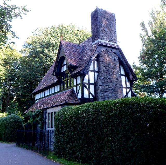 Cardiff : Grade II listed Gabalfa Lodge viewed from the east