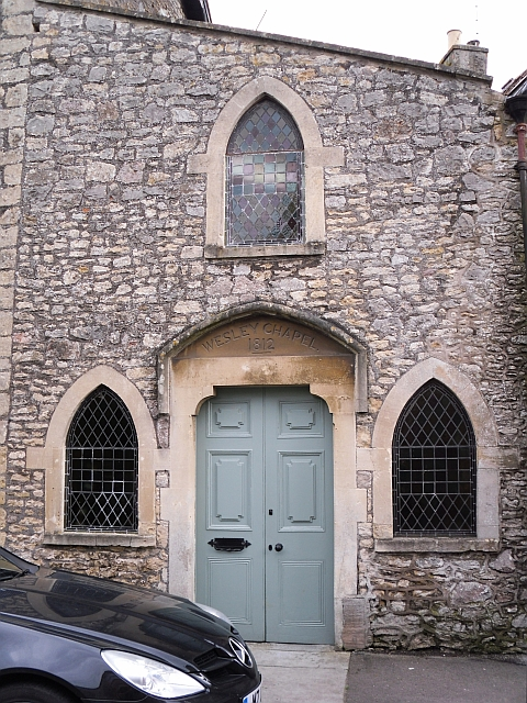 Door of former Wesleyan Chapel, Nunney