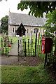 SK8266 : Girton churchyard and Girton postbox (ref. NG23 41)  by Alan Murray-Rust