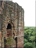 NS6859 : Walled-up window at Bothwell Castle by M J Richardson