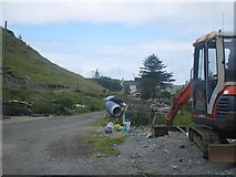 NG4162 : Construction near the end of the road by C Michael Hogan