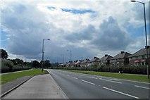 SK4593 : The A6123 Herringthorpe Valley Road, Rotherham by Steve  Fareham