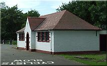 NT2273 : Roseburn Park pavilion by Thomas Nugent