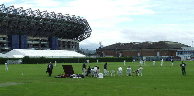 Cricket match in Roseburn Park