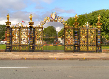 SJ6088 : Warrington's Golden Gates by David Dixon