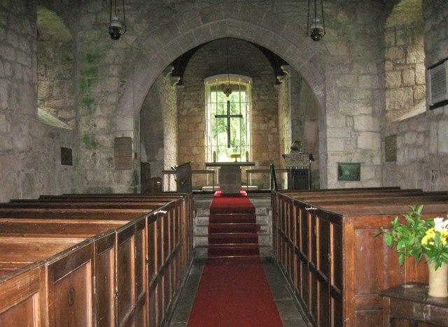 Interior of St Peter's Church, Chillingham, Northumberland