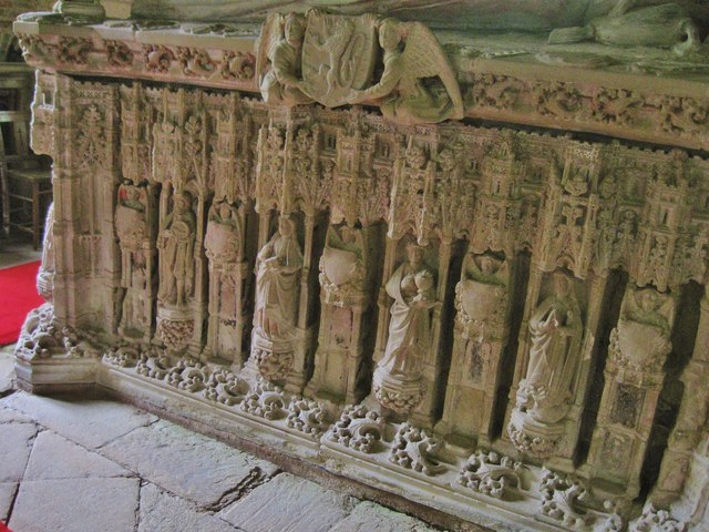Details  on tomb in St Peter's Church, Chillingham