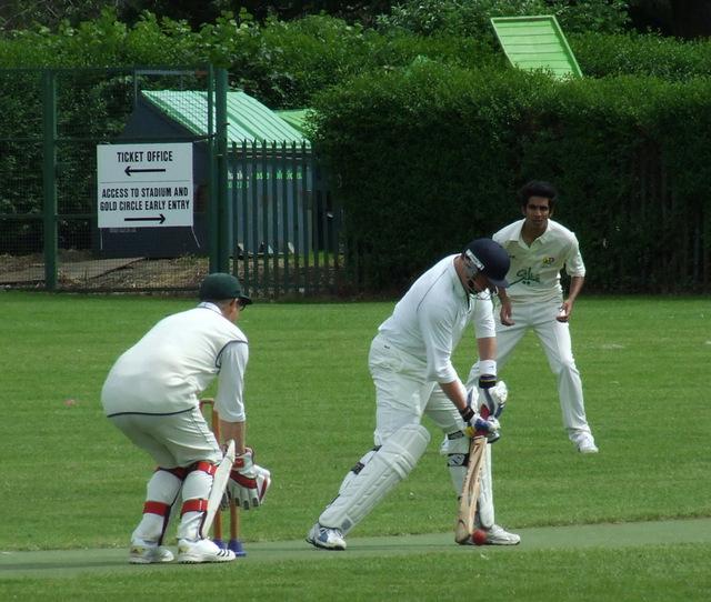 Cricket match in Roseburn Park
