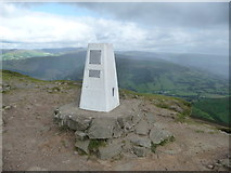 SO2718 : The summit trig on the Sugar Loaf with the Black Mountains behind by Jeremy Bolwell
