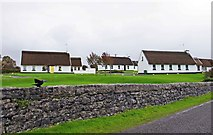 M2208 : Irish Cottages, Ballyvaughan, Co. Clare by P L Chadwick