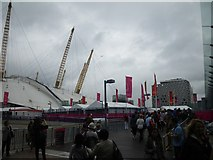 TQ3979 : Approaching the North Greenwich Arena by C Michael Hogan