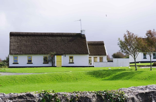 Irish Cottages (close-up), Ballyvaughan, Co. Clare