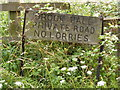 TM3975 : Brook Hall sign by Adrian Cable