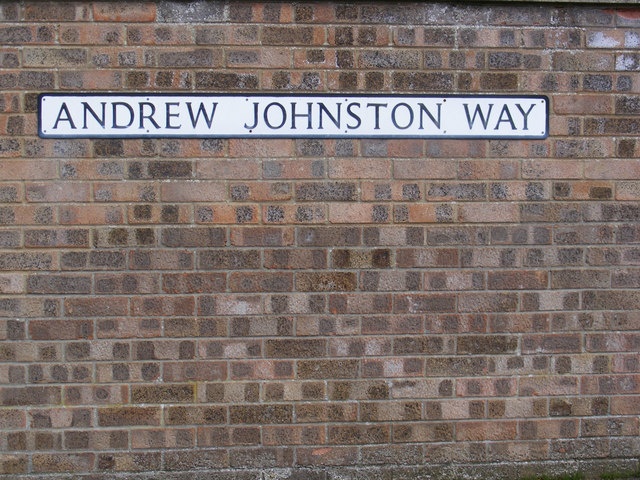 Andrew Johnston Way sign