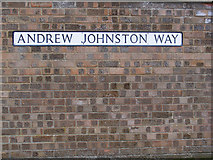 TM3876 : Andrew Johnston Way sign by Adrian Cable