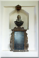 SJ1357 : St Meugan's church, Llanrhydd - memorial bust of Ambrose Thelwall by Mike Searle