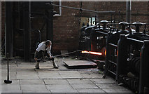 SJ6903 : Hot Iron - The rolling mill by Alan Murray-Rust