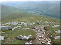 NN5139 : Looking down the path up Meall Ghaordaidh by G Laird