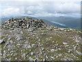 NN5139 : Meall Ghaordaidh Summit Cairn and Trig Point by G Laird