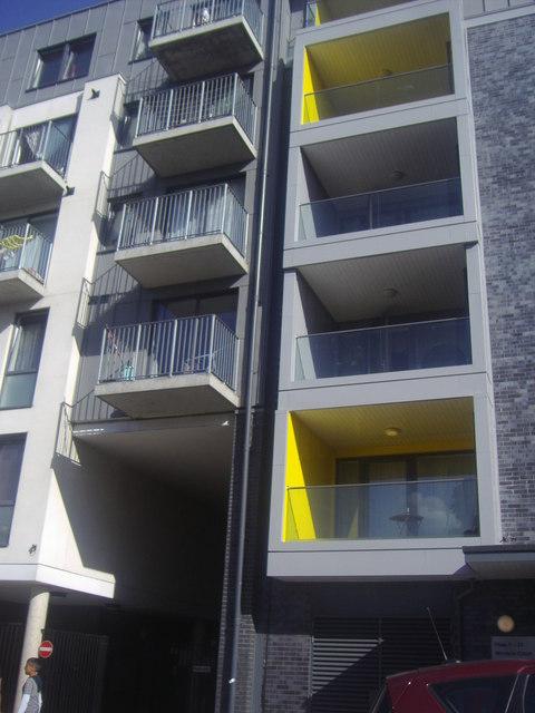 Detail of new flats on Ealing Road, Alperton
