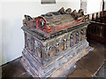 SJ5608 : St Andrew's church, Wroxeter - tomb-chest of Sir Richard Newport by Mike Searle