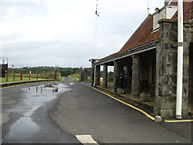 NO5608 : The front entrance and road leading out, at Scotland's Secret Bunker by James Denham