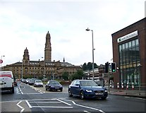 NS2776 : Approaching the Greenock Town Hall on the A770 by Elliott Simpson